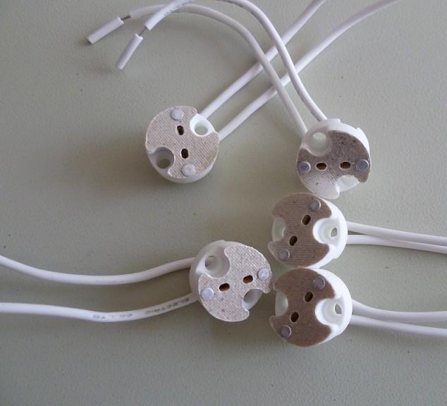 Mr16 G5 3 Mini Bi Pin Socket 12v Ceramic Basemr16 G5 3