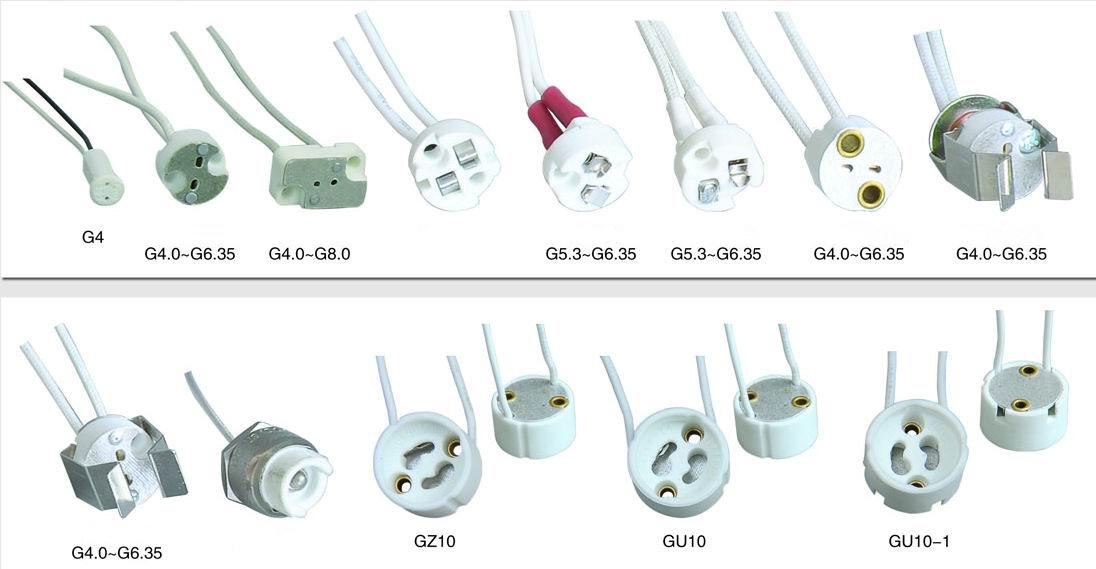 Mr16 Halogen Lamp Socket Mini Bi Pin 12v Ceramic Lamp Holder